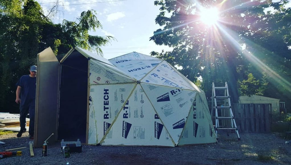 finished diy dome house